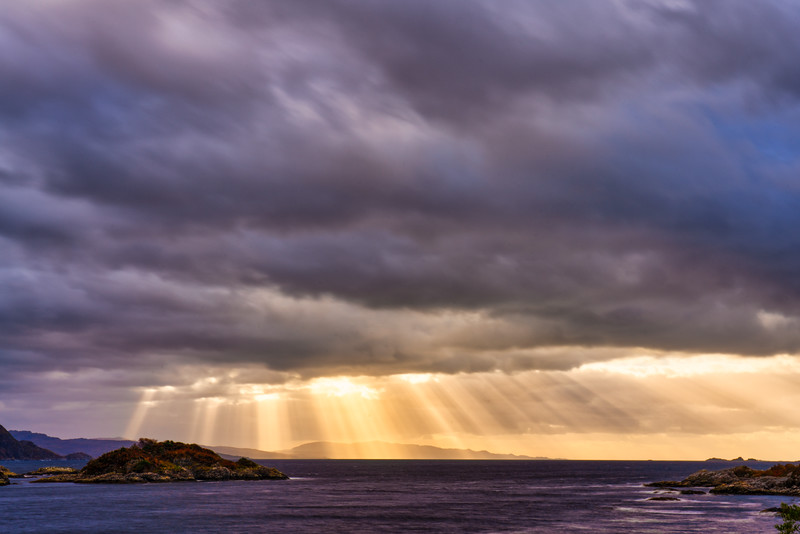 Sunbeams Over The Cuillin Sound, Socttish Highlands