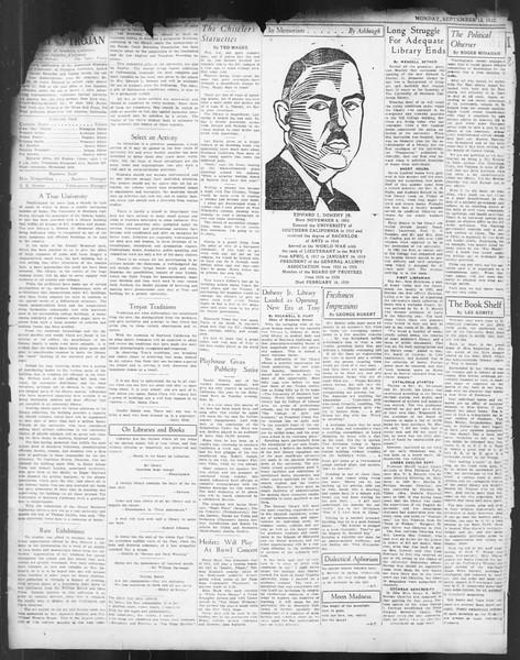 Daily Trojan, Vol. 24, No. 2, September 12, 1932