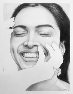 """Noli Me Tangere"" (graphite) by Arthi Sundararajan"