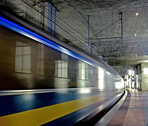 19. Leaving by train, by Luke. 9/15/07, E-300.