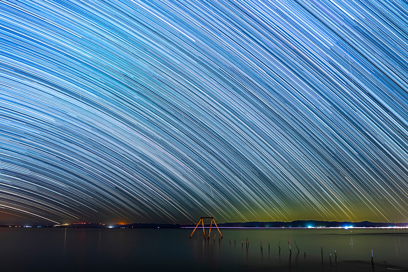 ✨ Star Trails Streak and Shine Over the Salton Sea and Ssippi's Swing on a Saturday. ✨