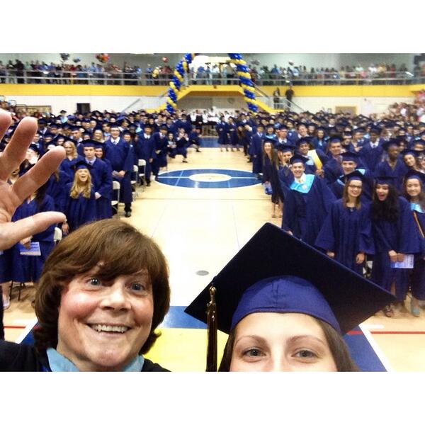 Description of . @zuck_it_up tweeted this selfie with Wissahickon High School Principal Lyn Fields.