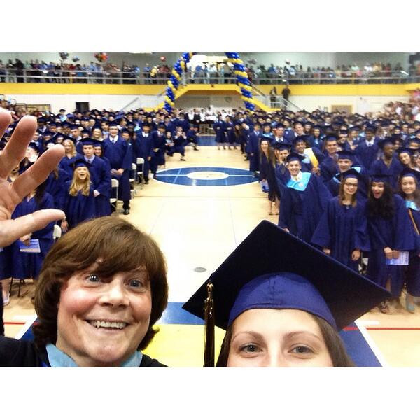 . @zuck_it_up tweeted this selfie with Wissahickon High School Principal Lyn Fields.
