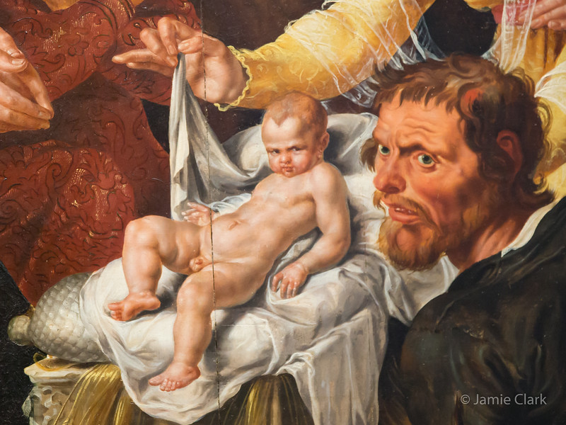 Baby Jesus with some serious attitude! Frans Hals Museum. Haarlem
