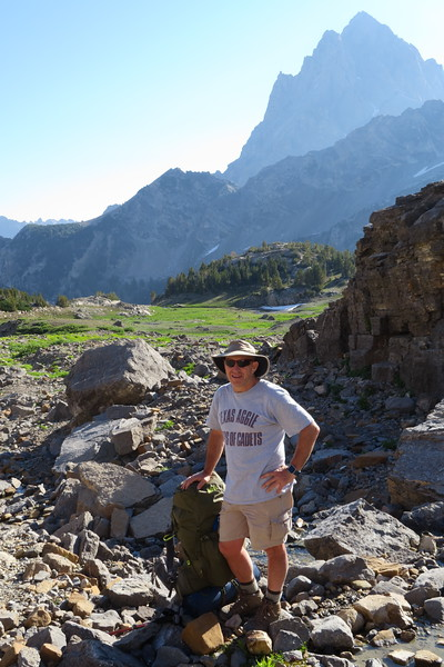 David strikes a pose in upper South Cascade Canyon