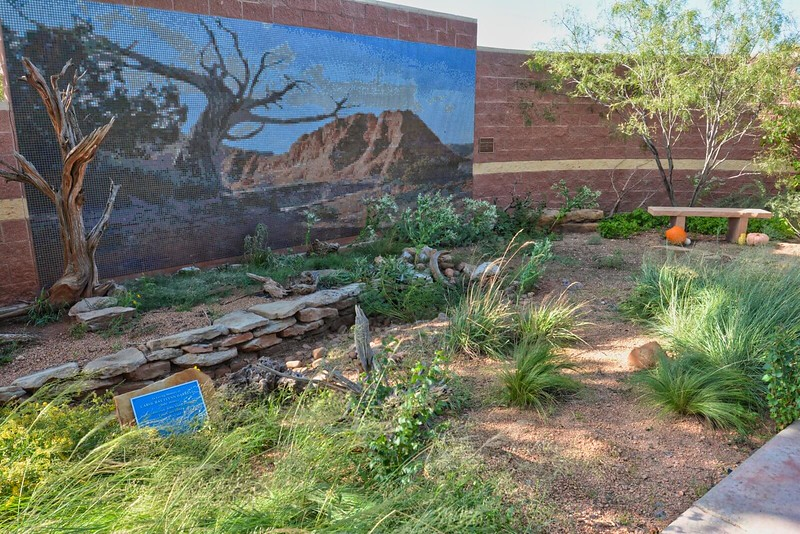 Desert garden and mosaic at Amarillo Botanical Gardens