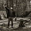 Stuck in the woods with nothing to do but take self portraits while the tent dries.