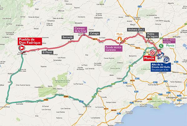 Vuelta a España stage 8: Puebla Don Fadrigue > Murcia, 183kms