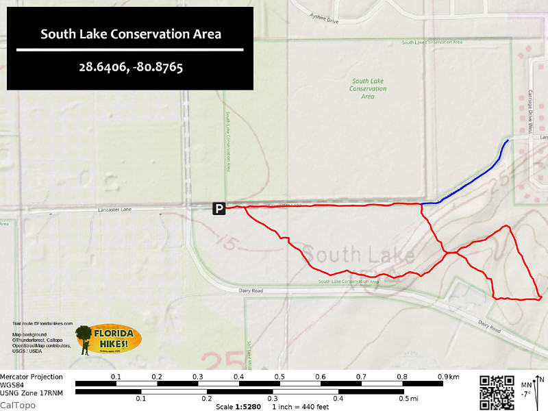 South Lake Conservation Area Trail Map