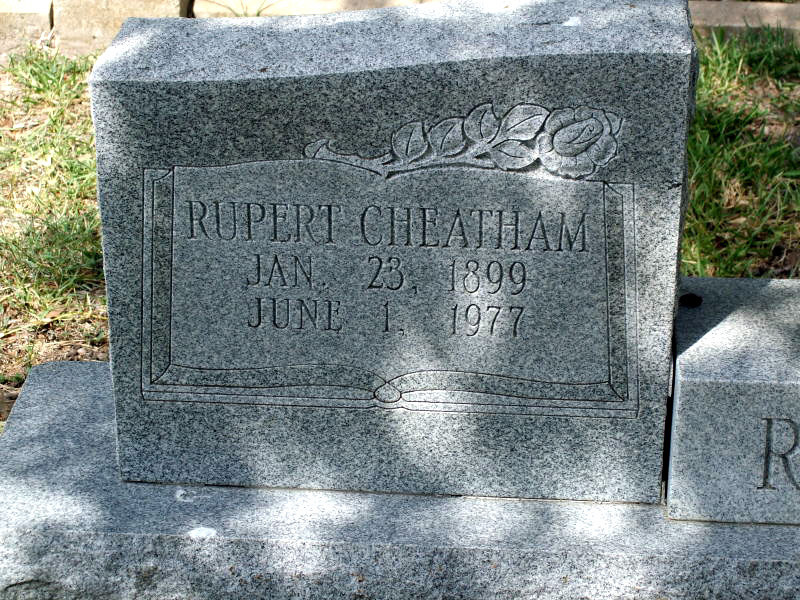REID, RUPERT CHEATHAM Odd Fellows Cemetery, Gonzales, Texas