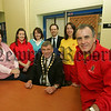 Mayor Michael Carr is pictured with Staff and Management at Newry Swimming Pool which has reopened after refurbrishment in order to comply with the Disability Discrimation Act. 07W12N5