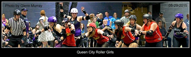 Queen City Roller Girls 05-29-15 AK v SS