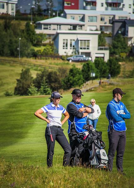 Saga Traustadóttir, Trausti Ágústsson.  Íslandsmót golf 2019 Grafarholt - 1. keppnisdagur. Mynd: seth@golf.is
