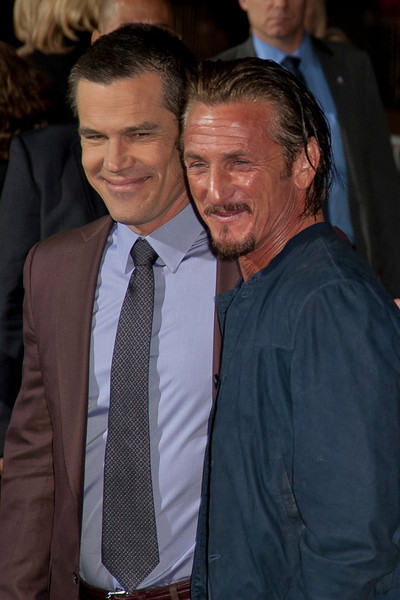 HOLLYWOOD, CA - JANUARY 07: Actors Josh Brolin and Sean Penn arrive at Warner Bros. Pictures' 'Gangster Squad' premiere at Grauman's Chinese Theatre on Monday, January 7, 2013 in Hollywood, California. (Photo by Tom Sorensen/Moovieboy Pictures)