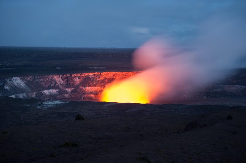 Kilauea Summit at Night