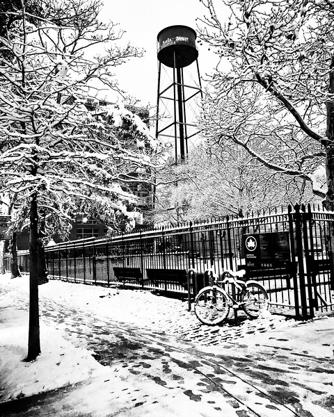 Greenpoint Tower in Snow
