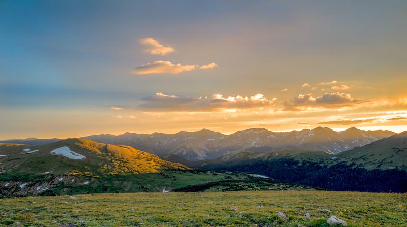 Rocky Mountain's Golden Sunset