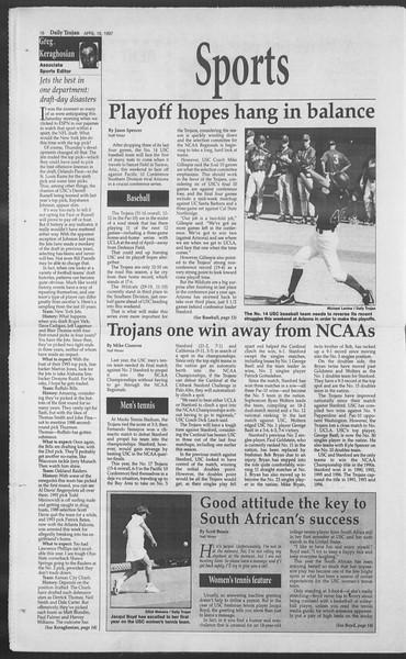 Daily Trojan, Vol. 130, No. 61, April 18, 1997