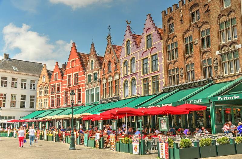 My favorite buildings in Markt Square!! - Bruges
