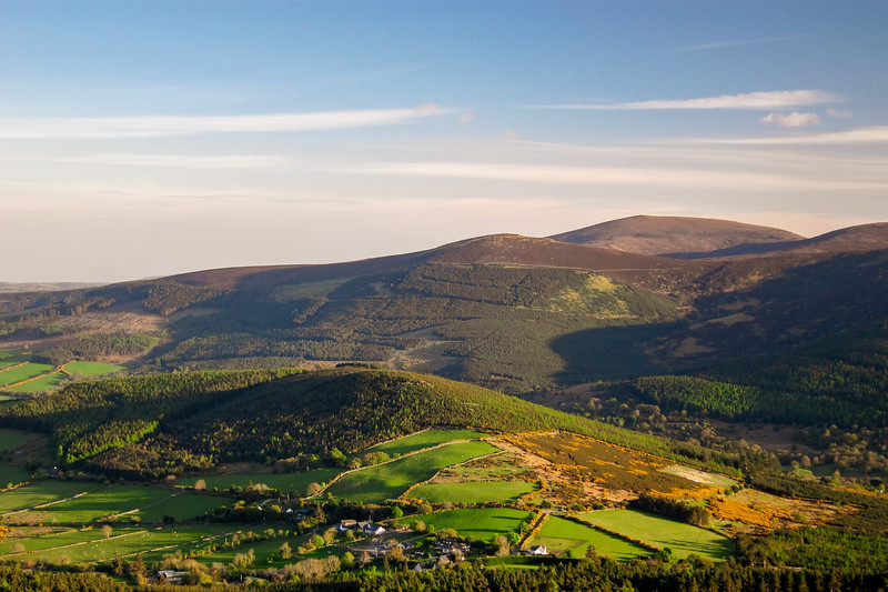 View of Glencree from Cloon Wood