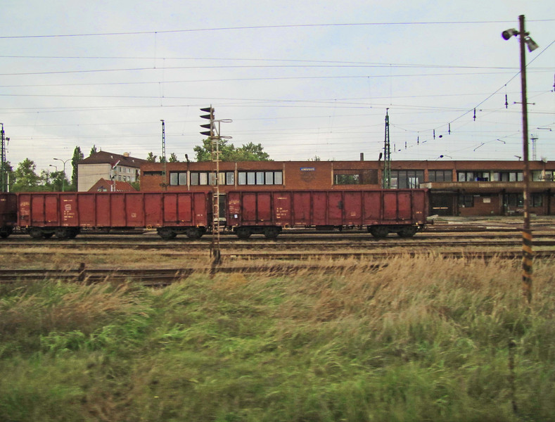 Railyard at Almasfuzito (pop. 2,400), one hour west of Budapest