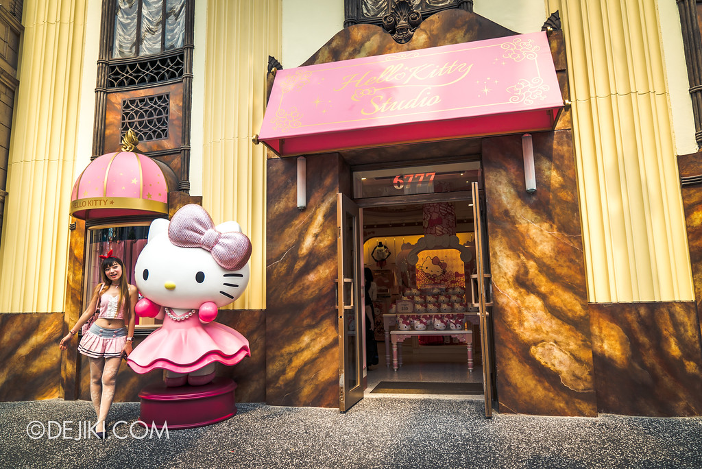 Universal Studios Singapore - Hello Kitty Studio store entrance