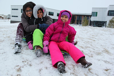 Kids Enjoying the Snow Day - March 13, 2019