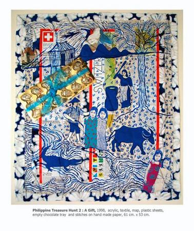 """Imelda C. Endaya - """"Stitching Paint Into Collage"""" - Art Exhibit"""