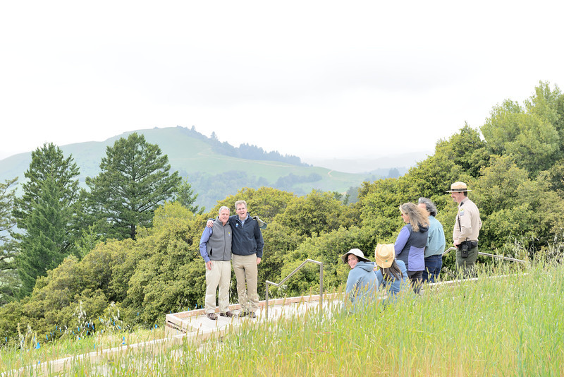 Grand opening of the Mindego Gateway Project and dedication of the Audrey C. Rust Commemorative Site at Russian Ridge Open Space Preserve in Santa Clara County, California, on May 7, 2014.