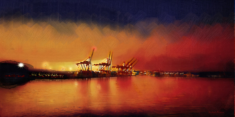 Seattle Waterfront, Sunrise