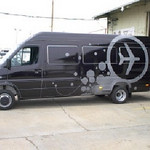 Vehicle Wrap installed on a Sprinter Van for Airforce Nutrisoda.    http://www.skinzwraps.com