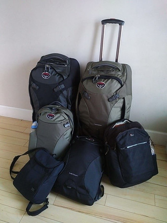 All our Luggage from our European Cruise