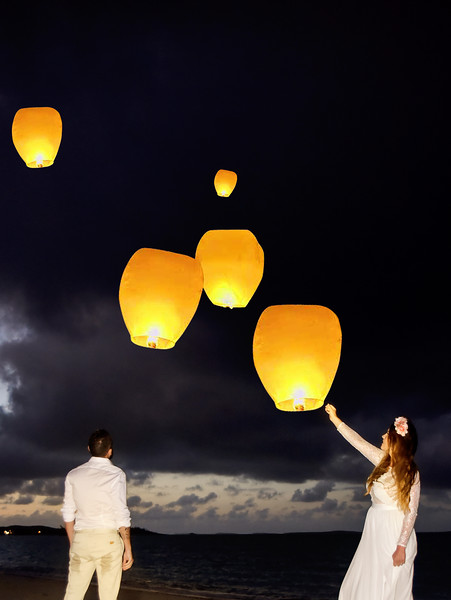 Chinese Lanterns @ Destination Wedding at Paradise Bay Resort in Exuma Bahamas photo by Reno Curling #renocurling