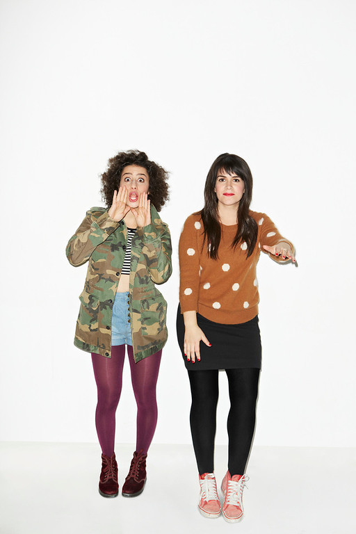 ". Ilana Glazer and Abbi Jacobson (l-r) ""Broad City.\"" (Photo by Lane Savage)"