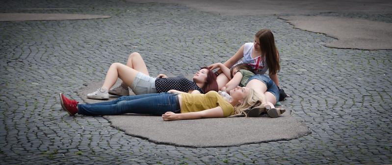 Relaxing in Augsburg, Germany