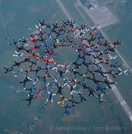 Muskogee Oklahoma World Record 100 way skydive