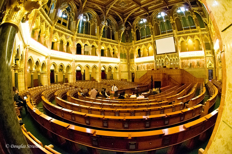 Hungarian Parliament in Budapest:  Main chamber