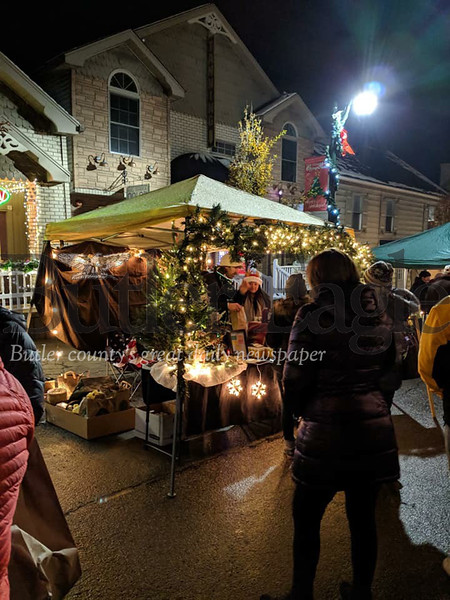 Slippery Rock Borough proceeded with Light Up Night festivities last weekend, despite a storm that knocked out power for many.