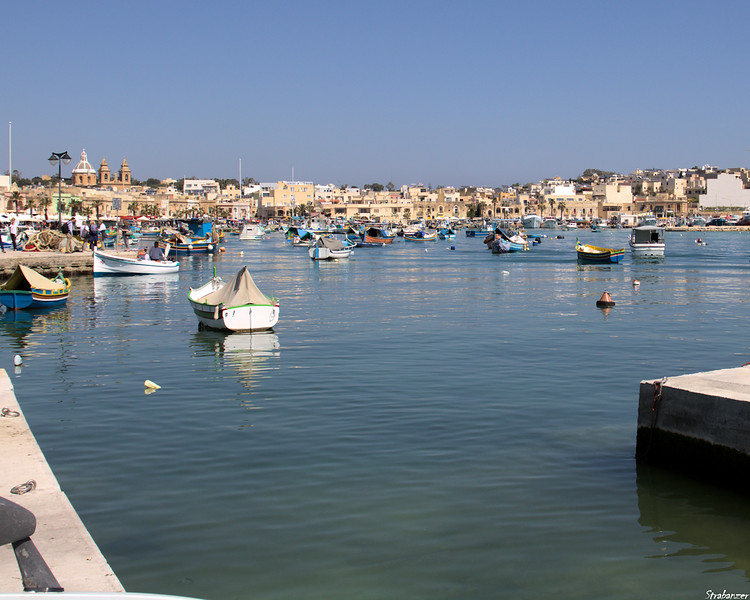 Malta.   Marsaxlokk Harbor and waterfront    03/24/19.    