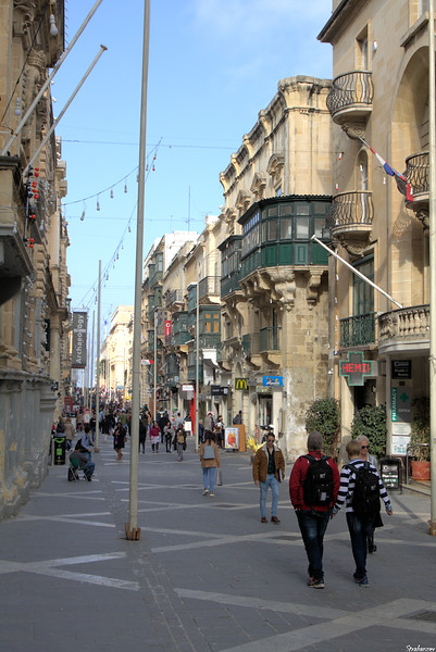 Valletta, Malta.     Looking North-Eastwards on Republic Street