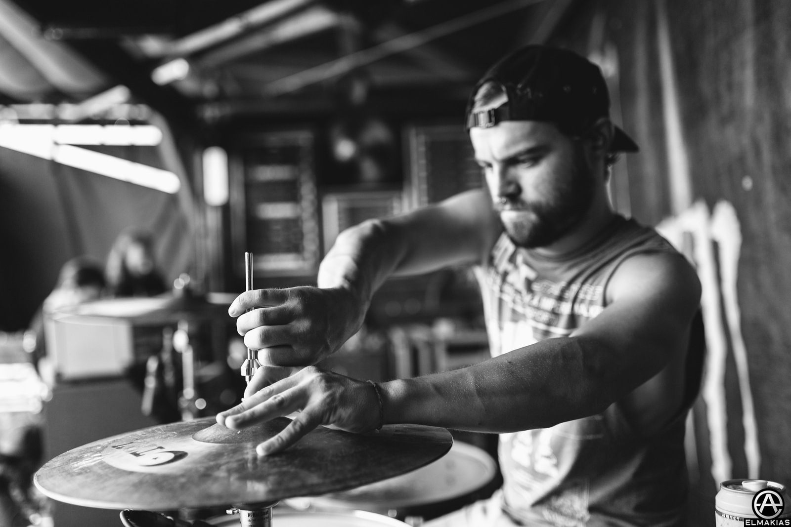 Brandon Mullins of Beartooth live at Vans Warped Tour 2015 by Adam Elmakias