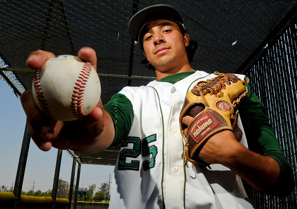 . Chris Mathewson has been named Player of the Year to the Inland Valley Daily Bulletin\'s All Area baseball team. Mathewson pitches for Kaiser High School. Rachel Luna staff photographer Inland Valley Daily Bulletin.
