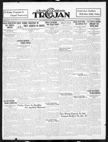 The Southern California Trojan, Vol. 16, No. 37, January 08, 1925