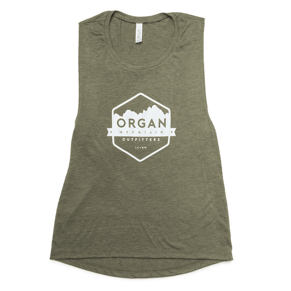 Organ Mountain Outfitters - Outdoor Apparel - Womens - Classic Muscle Tank - Military Green.jpg