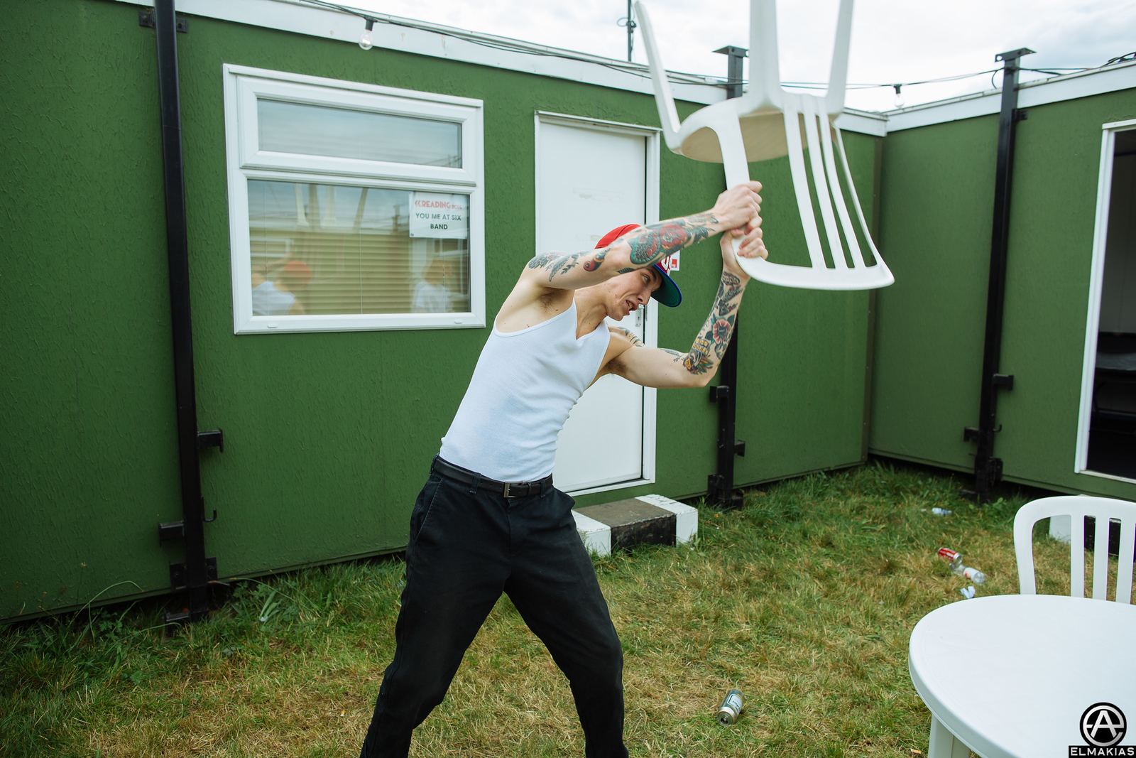 Parker Cannon The Story So Far backstage at Reading Festival