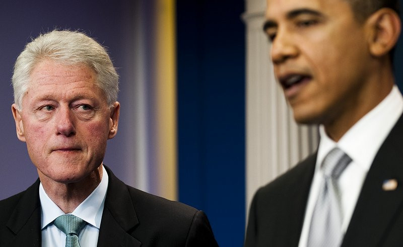 ". <p>7. BILL CLINTON <p>Despite tensions, President Obama still planning to award him the Presidential Medal of Fellati ... oops ... Freedom. (3) <p><b><a href=\'http://www.washingtonpost.com/blogs/post-politics/wp/2013/11/13/awkward-obama-to-honor-bill-clinton-next-week/\' target=""_blank\""> HUH?</a></b> <p>    (Jim Watson/AFP/Getty Images)"