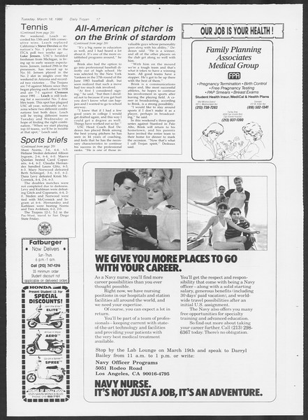 Daily Trojan, Vol. 100, No. 46, March 18, 1986