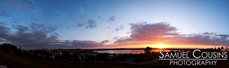 Sunset panorama over Portland Maine. Taken from Fort Sumner Park.