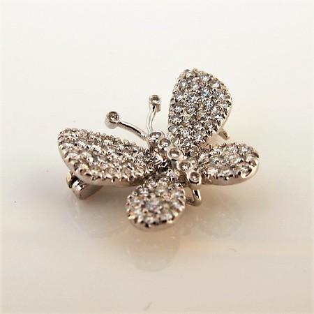 Petite Butterfly Pave Diamond Brooch