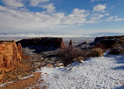 Snow On Colorado National Monument November 11, 2012